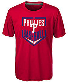 Outerstuff Philadelphia Phillies Run Scored Poly T-Shirt, Big Boys (8-20)
