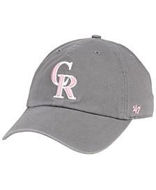 Colorado Rockies Dark Gray Pink CLEAN UP Cap