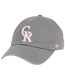 '47 Brand Colorado Rockies Dark Gray Pink CLEAN UP Cap