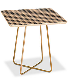 Deny Designs Holli Zollinger Seville Gingham Square Side Table