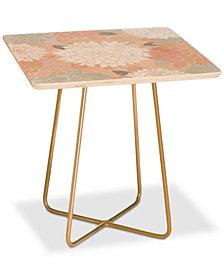 Deny Designs Iveta Abolina Ivory Rose Square Side Table