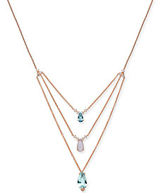 "Danori Crystal Triple Pendant Necklace, 16"" + 2"" extender, Created for Macy's"