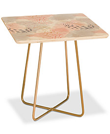 Deny Designs Little Arrow Abstract Watercolor Pastel Square Side Table