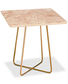 Deny Designs Rebecca Allen All Marbled Square Side Table