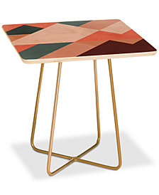 Deny Designs The Old Art Studio Geometric Mountains Square Side Table