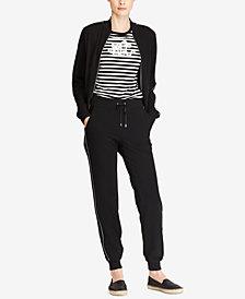 Lauren Ralph Lauren Bomber Jacket, Monogram Tee and Skinny Pants