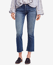 Free People Austen Frayed Straight-Leg Jeans