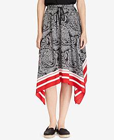 Lauren Ralph Lauren Handkerchief Twill Skirt