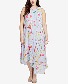 RACHEL Rachel Roy Trendy Plus Size Asymmetrical-Hem Midi Dress
