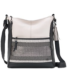 The Sak Woven Lucia Small Leather Crossbody