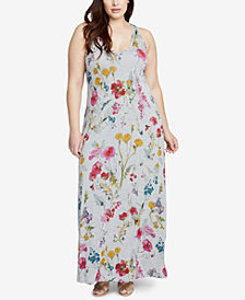 RACHEL Rachel Roy Trendy Plus Size Racerback Maxi Dress