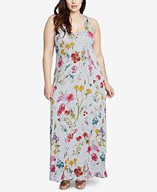 RACHEL Rachel Roy Trendy Plus Size Racerback Maxi Dress