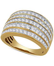 Diamond Multi-Row Statement Ring (1 ct. t.w.) in 14k Gold