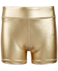 Ideology Big Girls Metallic Compression Shorts, Created for Macy's