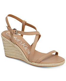 Calvin Klein Women's Bellemine Wedge Sandals