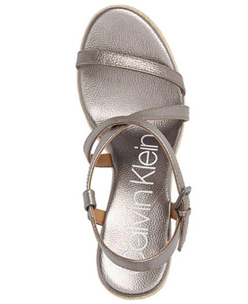 1f597f6ee3c0f Calvin Klein Women s Bellemine Wedge Sandals   Reviews - Shoes - Macy s
