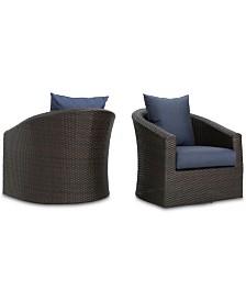 Malibu Outdoor Club Chair (Set of 2), Quick Ship
