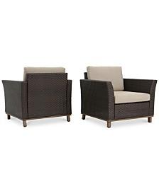 Malibu Outdoor Club Chairs (Set of 2), Quick Ship