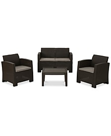 Mira Costa 4-Pc. Outdoor Chat Set, Quick Ship