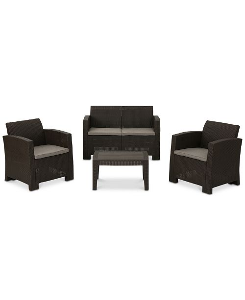 Noble House Mira Costa 4-Pc. Outdoor Chat Set