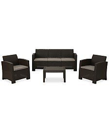 Sophie 4-Pc. Outdoor Chat Set, Quick Ship