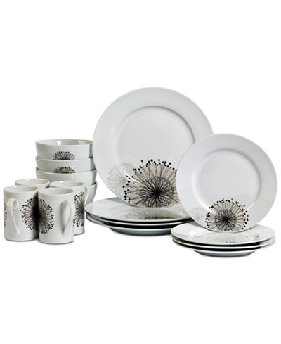 Tabletops Unlimited Amanda 16-Pc. Dinnerware Set, Service for 4 ...