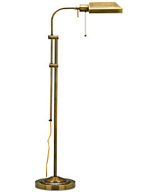 Cal Lighting Antique Bronze Pharmacy Floor Lamp with Adjustable Pole