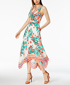 Vince Camuto Handkerchief-Hem A-Line Dress