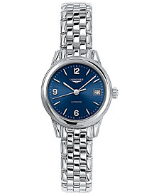 Longines Women's Swiss Automatic Flagship Stainless Steel Bracelet Watch 26mm