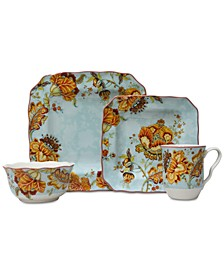 Gabrielle Blue 16-Pc. Dinnerware Set, Service for 4