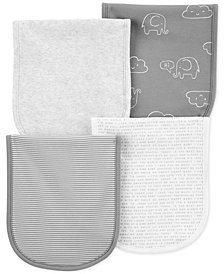 Carter's Baby Boys or Girls 4-Pack Printed Burp Cloths
