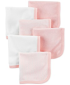 Baby Girls 6-Pack Washcloths