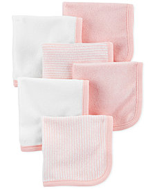 Carter's Baby Girls 6-Pack Washcloths