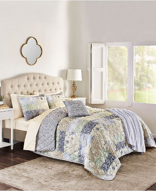 Sunham Josie 4-Pc. Reversible Twin Quilt Set