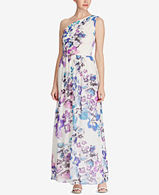 Lauren Ralph Lauren Floral-Print One-Shoulder Maxidress