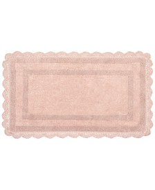 "Laura Ashley Crochet Cotton Reversible 21"" x 34"" Bath Rug"