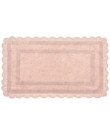 Laura Ashley Cotton Reversible Crochet Bath Rugs