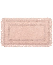 Laura Ashley Cotton Reversible Crochet Bath Rugs