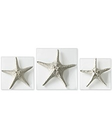 3-Pc. Silver-Finish Starfish Wall Art Set