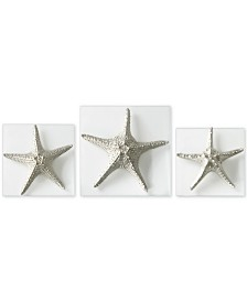 Uttermost 3-Pc. Silver-Finish Starfish Wall Art Set