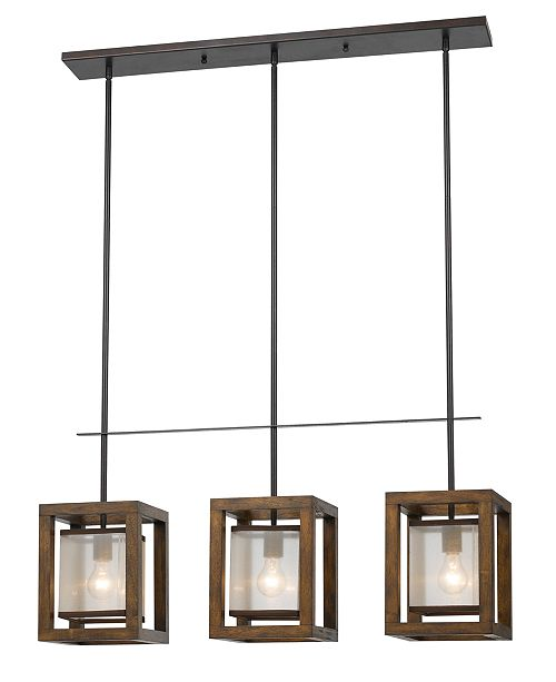 Cal Lighting 3-Light Island Pendant Fixture