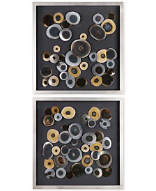 Uttermost Discs 2-Pc. Wall Art Squares Set