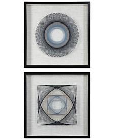 Uttermost 2-Pc. String Duet Geometric Wall Art Set