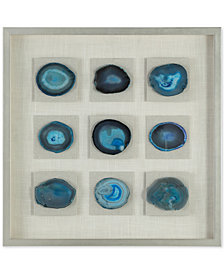 Uttermost Cerulean Blue Stone Shadow Box Wall Art