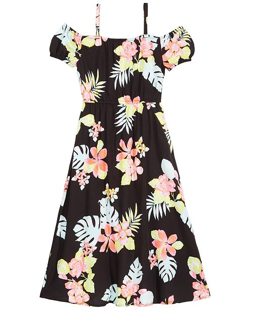36bcd6ca0d6c ... Epic Threads Toddler Girls Floral-Print Maxi-Overlay Romper