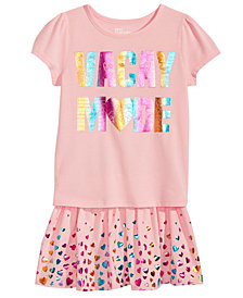 Epic Threads Little Girls Vaca Mode T-Shirt & Heart-Print Skirt, Created for Macy's