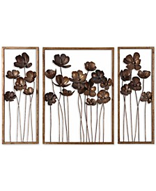 Metal Tulips 3-Pc. Wall Art Set
