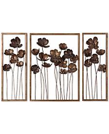 Uttermost Metal Tulips 3-Pc. Wall Art Set