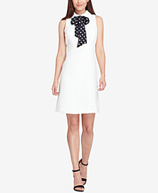 Tahari ASL Printed Bow Fit & Flare Dress