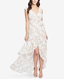 RACHEL Rachel Roy Floral-Print Ruffled High-Low Dress